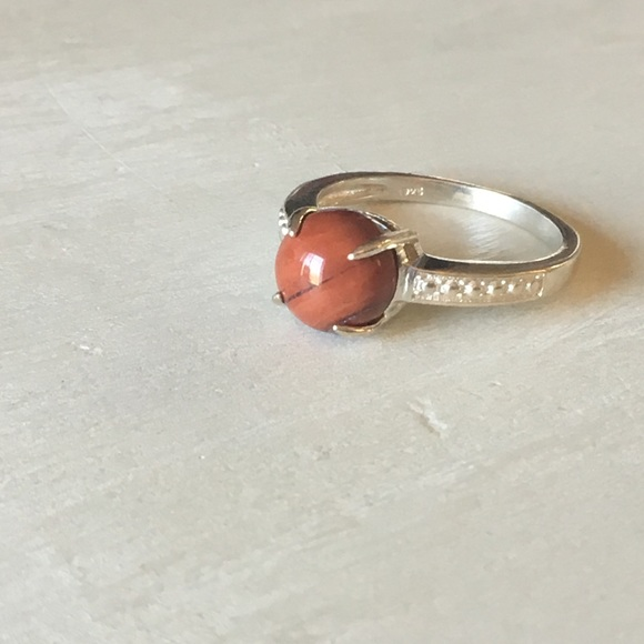 039820d8b090f .925 Sterling Silver Red Jasper Stone Ring Boutique